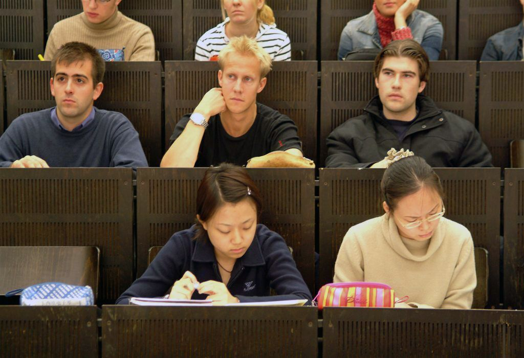 Students in a lecture room