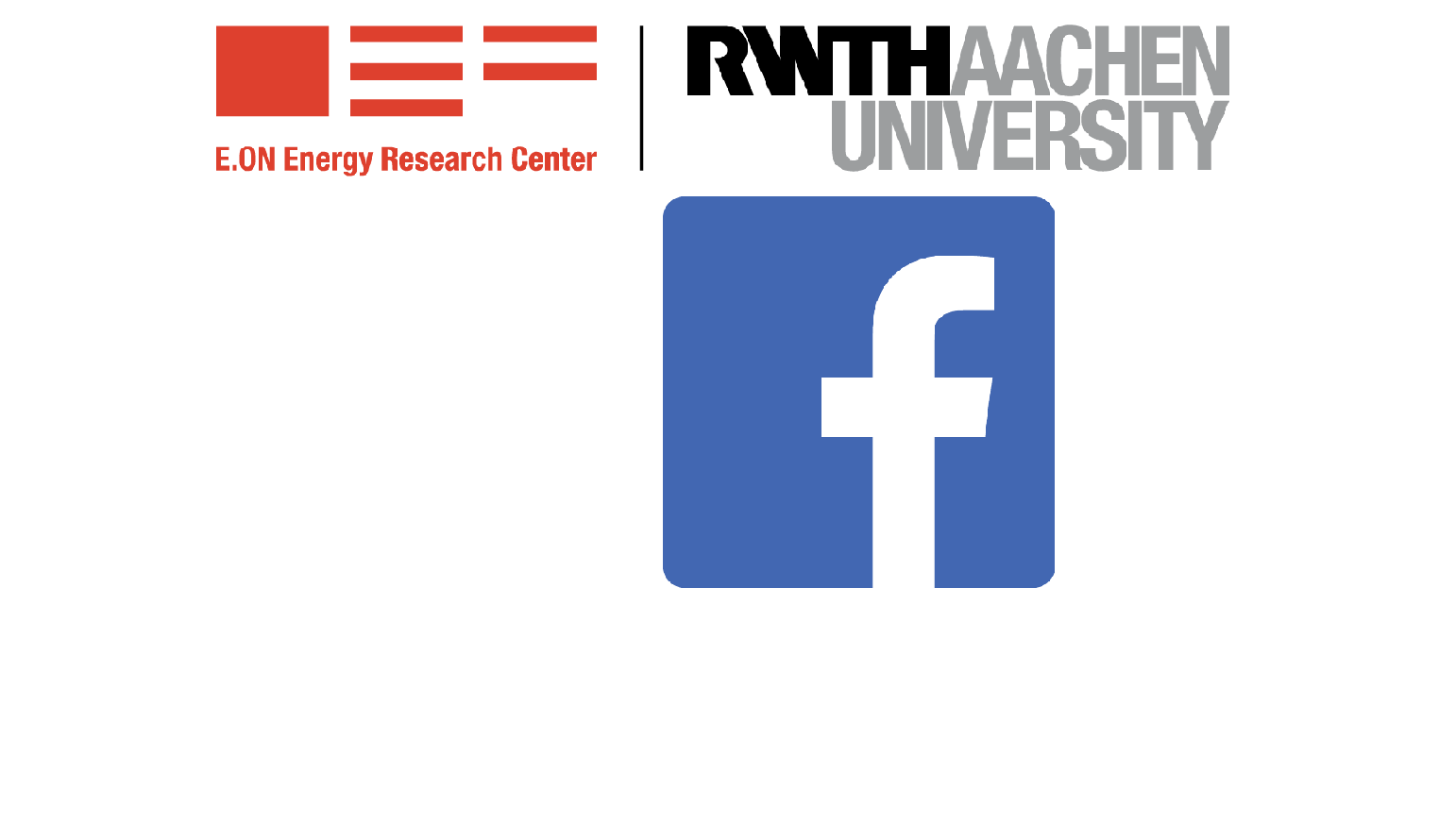 Logos E.ON ERC and Facebook