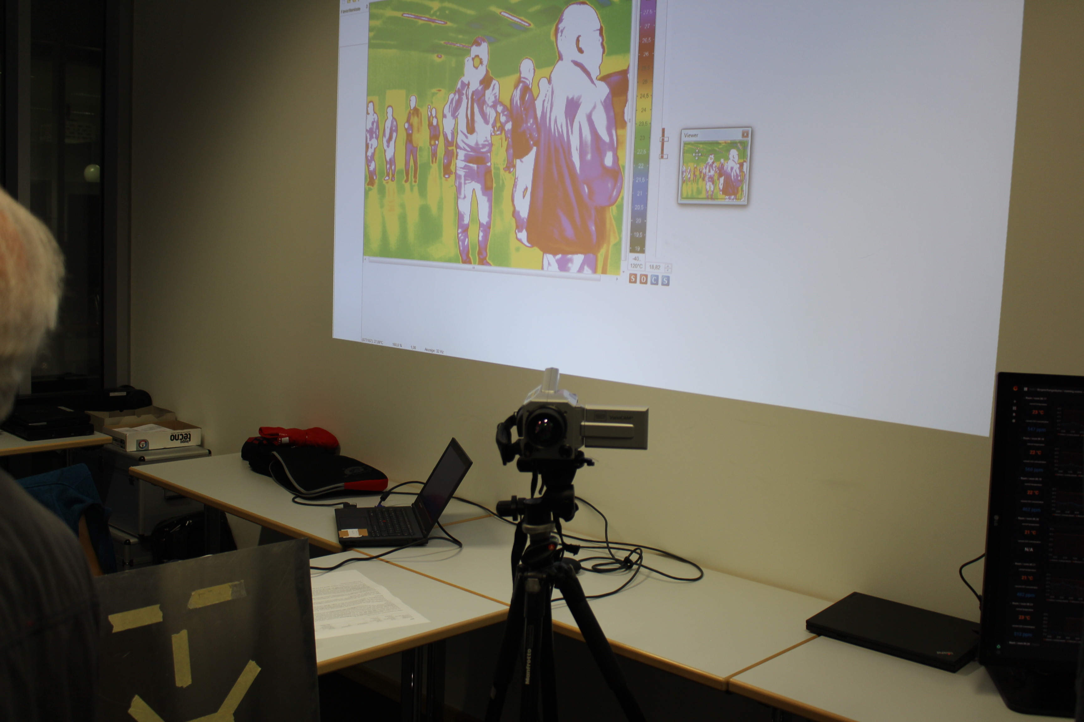 Thermal imaging camera of the institute EBC